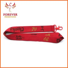 "Red Jacquard 5/8"" Promotional Polyester Neck Lanyard Supplier"