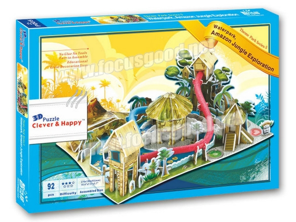 Model Water Park New 3d Puzzle Water Park Model
