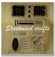Transparent cling stamp word rubber stamps
