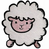 Cute SHEEP Embroidered Iron On Patch Sew Badge Sticker Sewing Craft Clothing