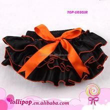 Best-selling orange and black baby ruffle bloomers halloween baby bloomer