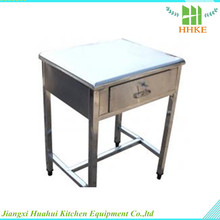 stainless steel table/desk work table with file cabinet