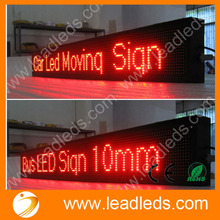 Programmable Bus Rolling LED display board for showing destination and route number