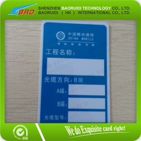 Cable Telecom Tags Resistant to corrosion and weathering