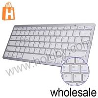 Fashion Ultrathin Design Desktop Notebook Bluetooth 3.0 Multimedia Wireless Keyboard BCM20730