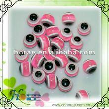 pink color 12mm evil eye loose beads