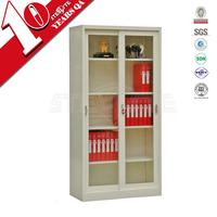 bookcase with glass doors model / sliding glass door filing cabinet / Steel lockable cabinet with glass door