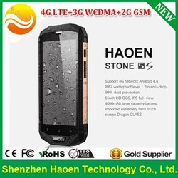HAOEN Stone 5S Rugged Android Phone with 5 Inch Dragon Glass Qualcomm 4 Cores IP67 Military Rugged Waterproof 4G Android Phones