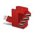 Lindo USB ergonómico 2.0 de 4 puertos Hub controlador