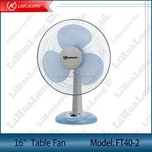 "16"" desk fan with timer Model FT40-2 detachable base"