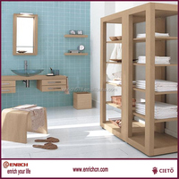 Free standing newly design cheap wood bathroom cabinet
