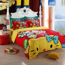 cartoon printing fashion dress china supplier bed design textiles children bedding set HIGH QUALITY printed duvets