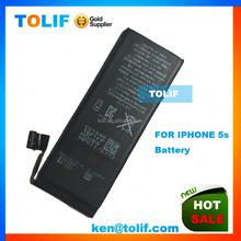Hot Selling Mobile li-ion lithium phone Battery For Iphone 5s battery,oringal for iphone battery