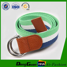 Secondary Colour Canvas Belt with Genuine Leather