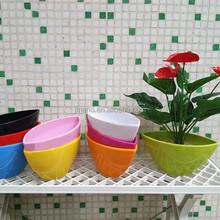 2015 novo design colorida navio forma de plástico decorativa planta de plástico potes