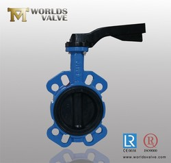 Spheroidal Graphite iron/SG iron handle/lever/manual/wrench butterfly valve
