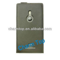 Genuine Leather Flip Case For Nokia Lumia 925