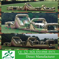 inflatable floating obstacle bouncer for outdoor sport