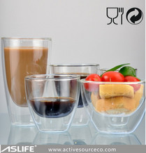 ASD2202_84x84x88mm Table Ware For Drinking Coffee The Double Wall Glass Cups!Man Made Excellent 0.12L Double Wall Glass