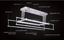 ceiling mounted clothes drying rack manufacturer electric heated clothes airer