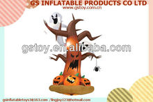 PVC pumpkin with ghost inflatable halloween decorations EN71 approved