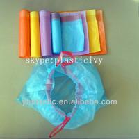 plastic drawstring garbage bags on roll