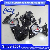 FFKSU004 Fairing Kit For Motorcycle For Suzuki GSXR750 GSXR600 2006 2007 Gloss Black With Star Race