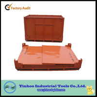 2014 New Style High-quality stackable and foldable storage box ,folding metal steel pallet box
