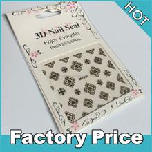 golden 3d nail seal arts for nail decorations