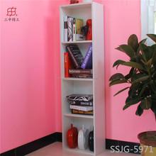 European style furniture/simple/solid wood/white oak wood bookshelf/bookcase/cabinet