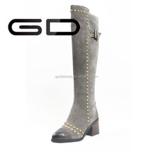 high fashion high quality genuine leather vintage over the knee boots