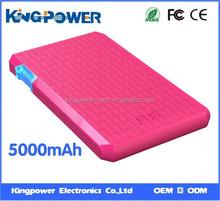 2015 new square 5000mAh portable universal Power bank for Samsung galaxy tab