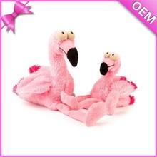 Custom Bird Stuffed Soft Toy Pink Plush Flamingo