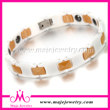 New women fashion jewelry cool sports bio gold ceramic bracelet for sale