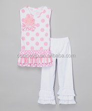 Kids Summer Outfits Wholesale baby girls clothing sets 2 piece ruffle cotton sping & autumn Gorgeous outfit for girls
