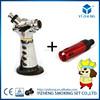 click N vape sneak A gun vaporizer smoking metal pipe vape Herbal portable Vaporizer weed with built-in Wind Proof Torch YZ-719
