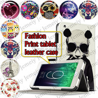 """For ipad Air 2 /ipad 6 9.7"""" Tablets Printing Folding PU Leather Case Media Stand Folio Case Cover"""