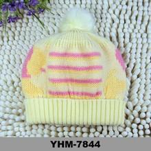 baby photography yellow color princess merino wool beanie