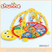 Novelty turtle personalized playmat Plush animal thick playmat for baby