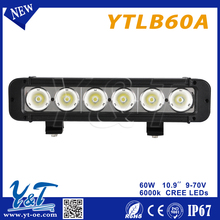 Best value!car accessories led light60w China Supplier led light bar 4x4 accessories single rows 10.9inch led light bar