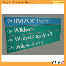 Indoor Flat wall mounted signage for market
