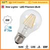 8Watt--E27 Filament LED--Standard Clear Bulbs