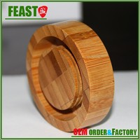 Whosale customized bamboo screw lid bottle screw lid ceramic canister bamboo or wood screw lid