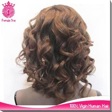 bohemian remy human hair full lace wigs short brown sewing hair to beyonce full lace wig