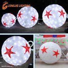 Acylic LED 3D motif lights outdoor 3d Christmas lights led Sphere holiday Balls STREET DECORATIONS