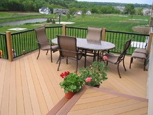 LONG life to use wood plastic composite decking/flooring composite wood