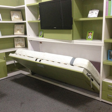 Single Kids Wall Bed,Horizontal Wall Beds,Folding Wall Bed With Dinning Table