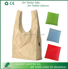 Promotional foldable 190T polyester bag long handle bag