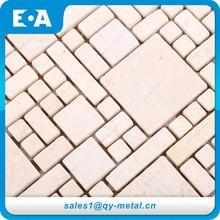 Luxury Home Decor Indoor Decorations Stone Mosaic Grid Supported Natural