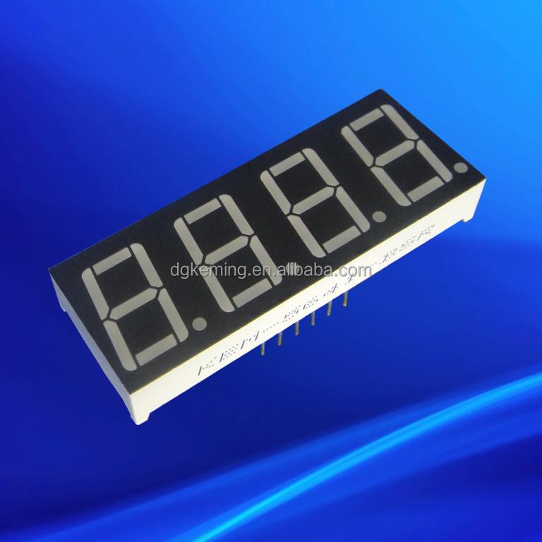 China factory Red 0.56 inch quad digit numeric led 7 segment display